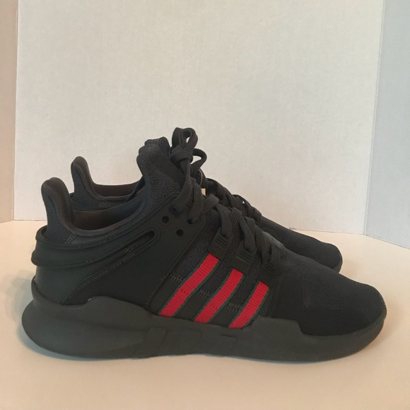 check out 76609 97b6f Adidas eqt adv Gucci size 9.5 shoes black red